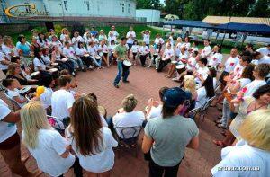 Drum Circle - мастер-класс, интерактив, тренинг на барабанах на корпоративах, тимбилдинге в Киеве, по Украине